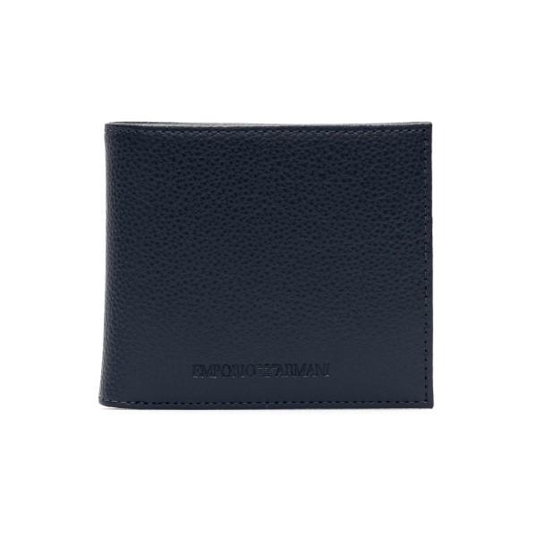 Portafoglio blu in texture zigrinata                                                                                                                  Emporio Armani Y4R167 retro