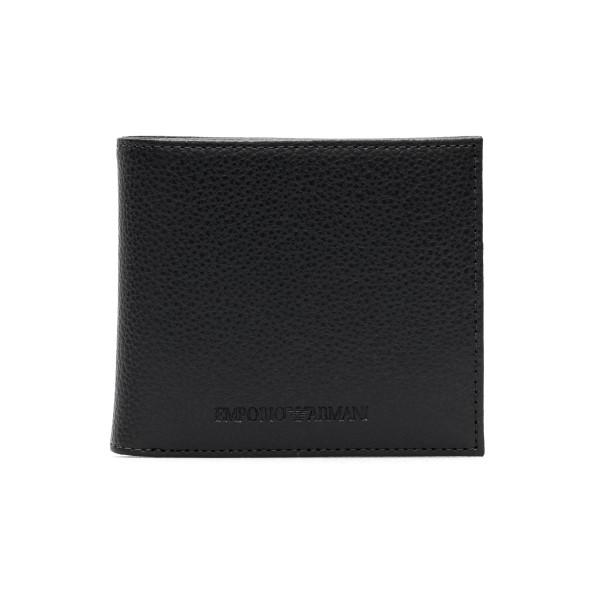 Portafoglio nero bi-fold con logo                                                                                                                     Emporio Armani Y4R167 retro