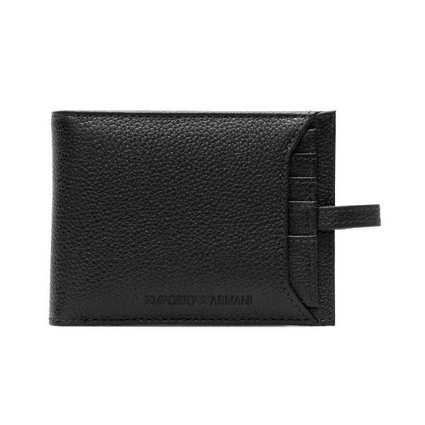 Portafoglio nero in texture zigrinata                                                                                                                 Emporio Armani Y4R283 retro