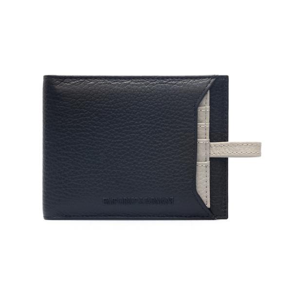 Pocket leather wallet                                                                                                                                 Emporio Armani Y4R283 back
