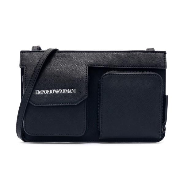 Portafoglio nero con tracolla                                                                                                                         Emporio Armani Y4R320 retro