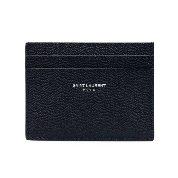 Black card holder with logo                                                                                                                           Saint laurent 375946 front