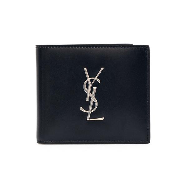 Black bi-fold wallet with monogram                                                                                                                    Saint Laurent 453276 back