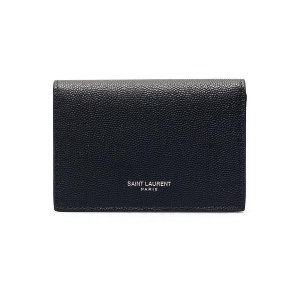 Black wallet with button                                                                                                                              Saint Laurent 469338 back
