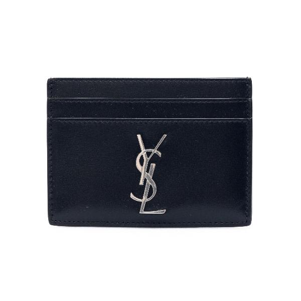 Black card holder with monogram                                                                                                                       Saint laurent 485631 front