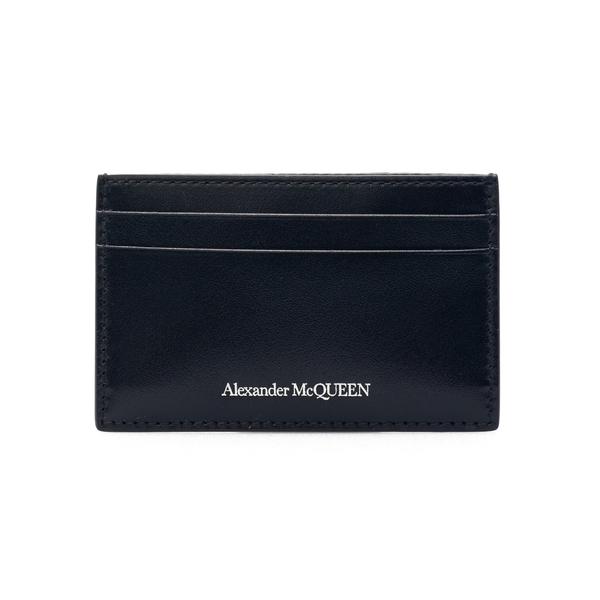Portacarte nero con nome brand                                                                                                                        Alexander Mcqueen 602144 retro