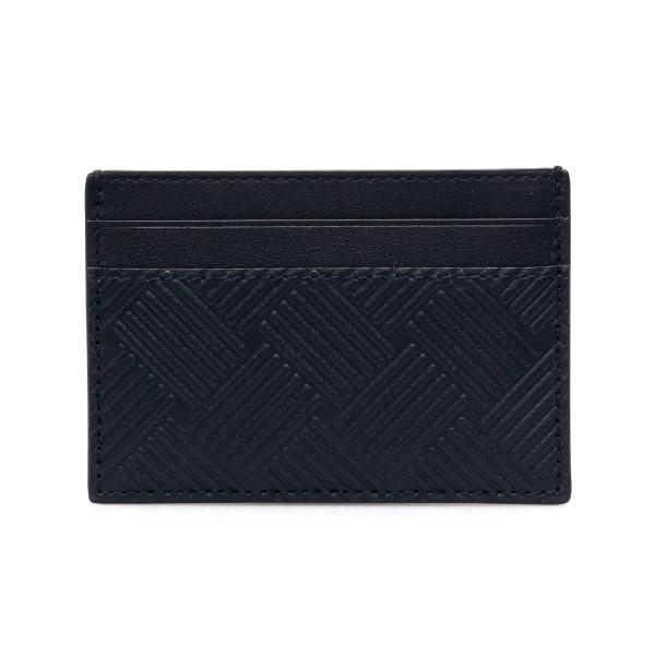 Portacarte nero con texture rigata                                                                                                                    Bottega Veneta 635064 retro