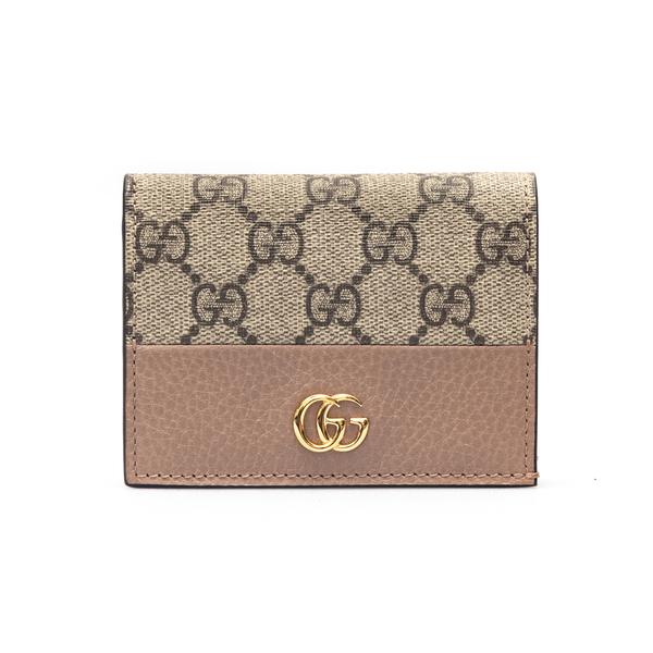 Portafoglio beige e rosa con logo                                                                                                                     Gucci 658610 retro