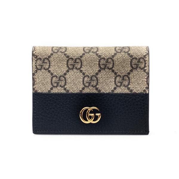 Portafoglio beige e nero con logo                                                                                                                     Gucci 658610 retro