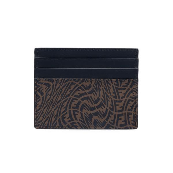 Portacarte marrone con pattern logo                                                                                                                   Fendi 7M0164 retro