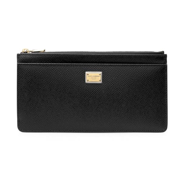 Portafoglio nero con placca logo                                                                                                                      Dolce&gabbana BI1265 retro