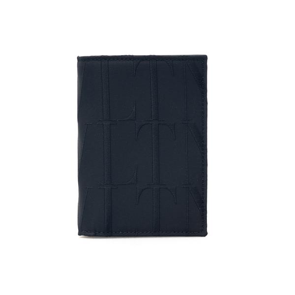 Portafoglio nero bi-fold con logo all-over                                                                                                            Valentino Garavani WY2P0713 retro