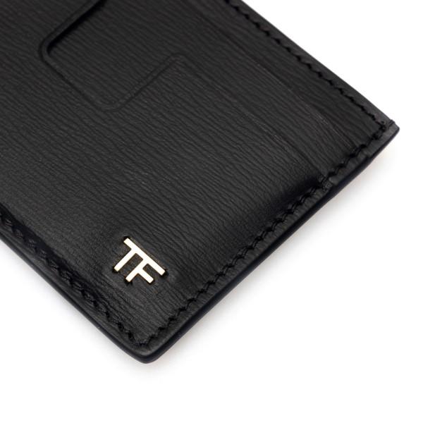 Black card holder with golden logo                                                                                                                     TOM FORD