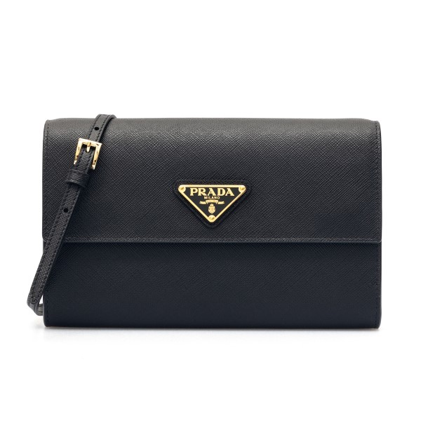 Black mini bag with logo                                                                                                                              Prada 1MA022 front