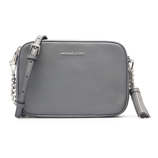 Grey shoulder bag with tassel                                                                                                                         Michael Kors 32F7SGNM8L back
