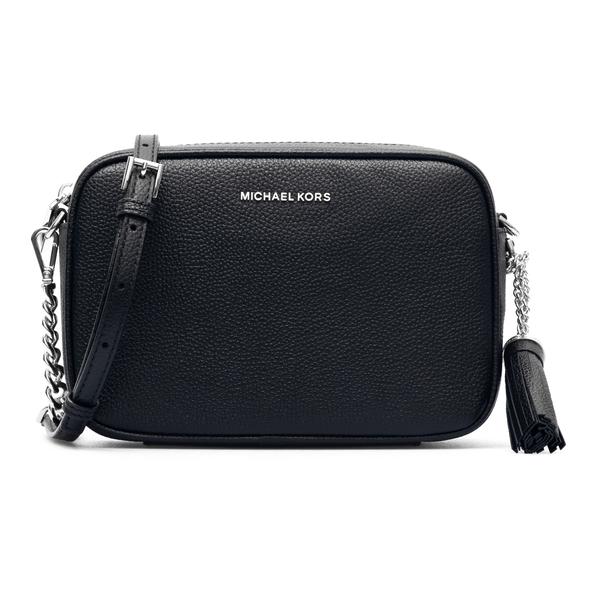 Black shoulder bag with silver logo                                                                                                                   Michael Kors 32F7SGNM8L back