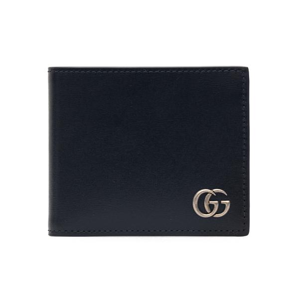 Portafoglio nero con logo frontale                                                                                                                    Gucci 428726 retro