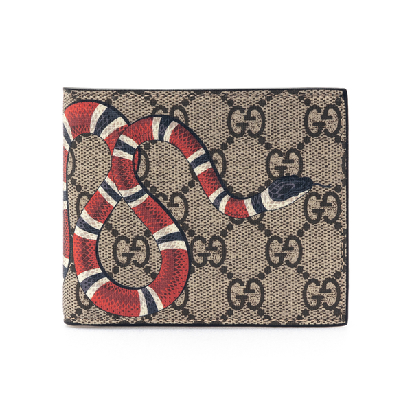 Beige wallet with snake print                                                                                                                         Gucci 451266 back