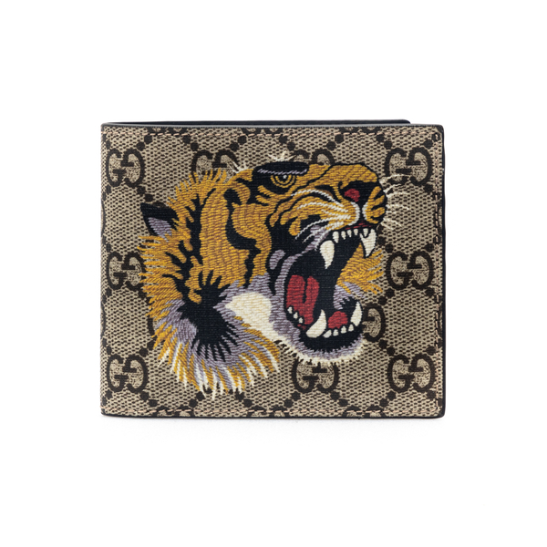 Beige wallet with tiger embroidery                                                                                                                    Gucci 451268 back