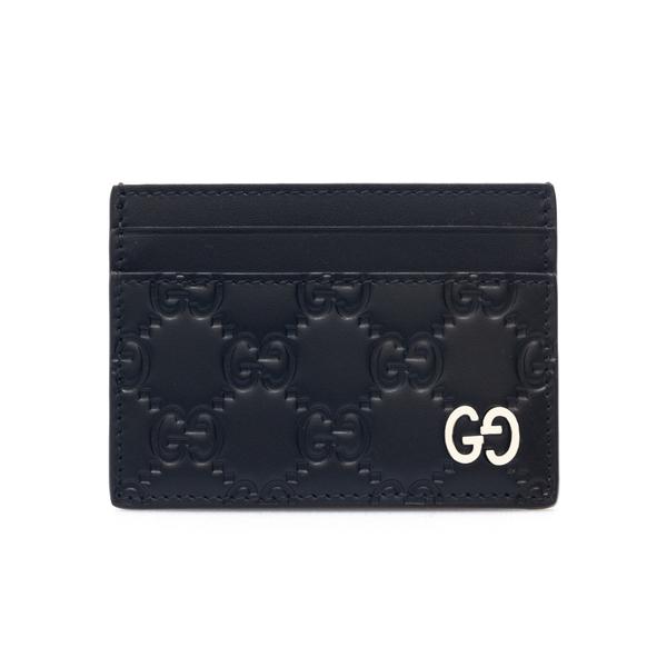 Portacarte nero con pattern logo                                                                                                                      Gucci 473927 retro
