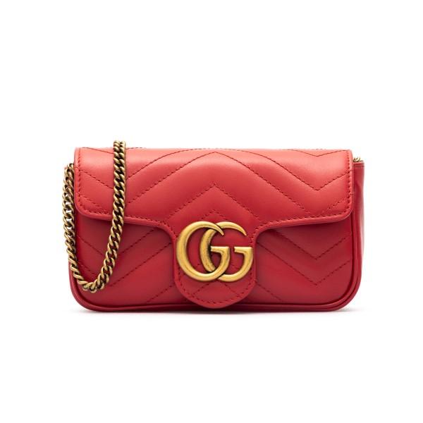 Borsa mini rossa in pelle matelassé                                                                                                                   Gucci 476433 retro