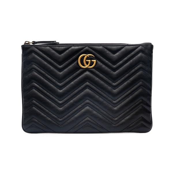 Pouch nera matelassé con logo                                                                                                                         Gucci 525541 retro