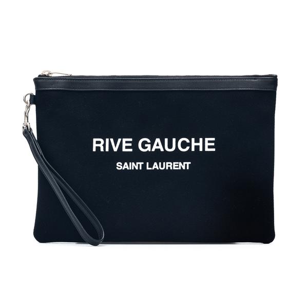 Pouch a bustina con stampa logo                                                                                                                       Saint Laurent 565722 retro