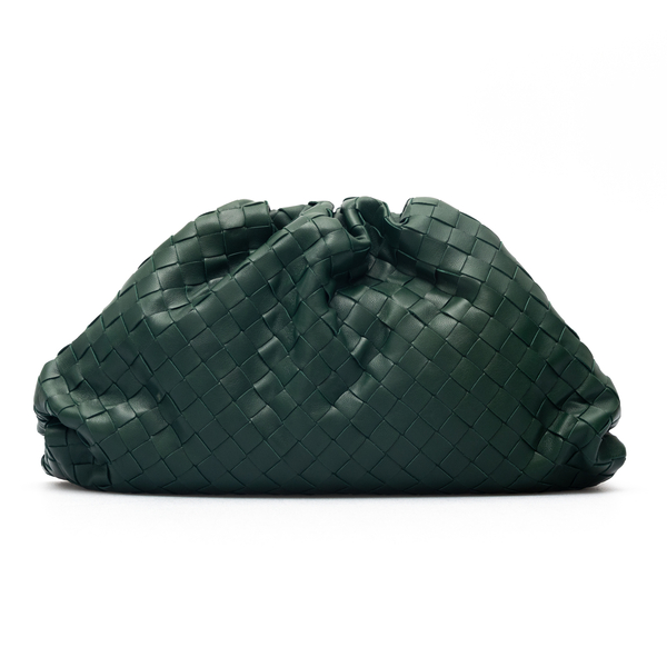 Clutch verde intrecciata                                                                                                                              Bottega Veneta 576175 retro