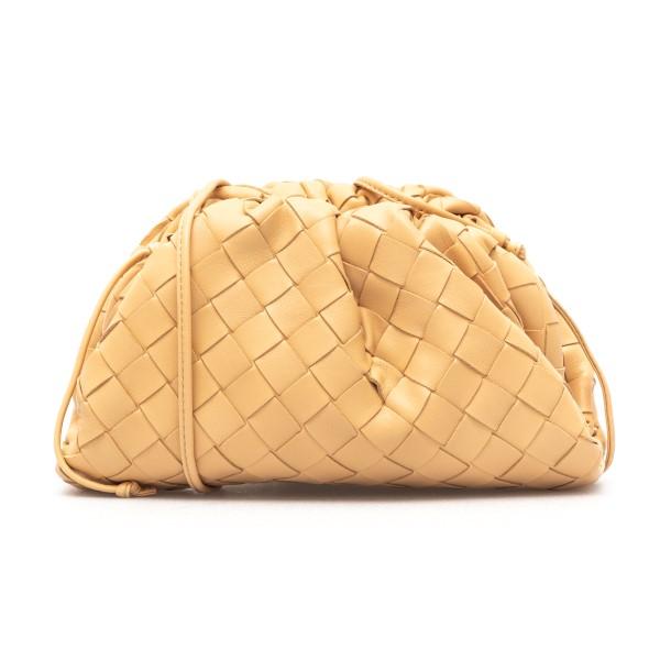 Clutch beige intrecciata                                                                                                                              Bottega veneta 585852 fronte