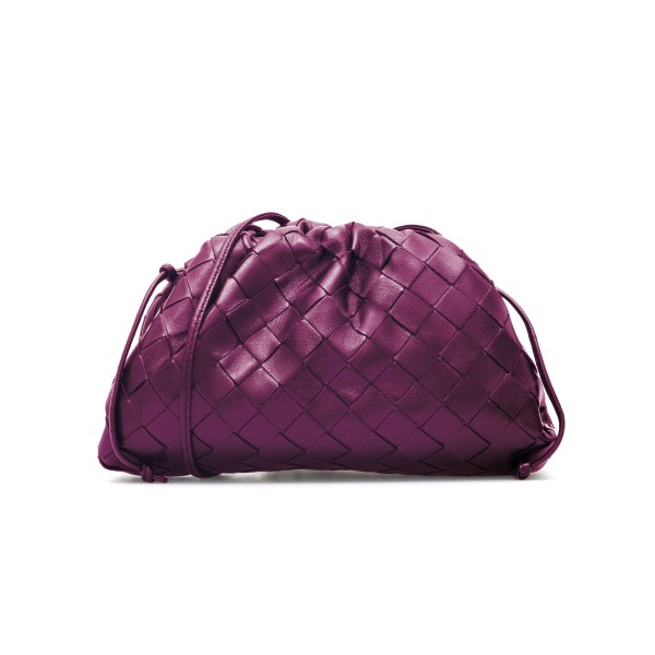 Clutch intrecciata in violetto                                                                                                                        Bottega Veneta 585852 retro