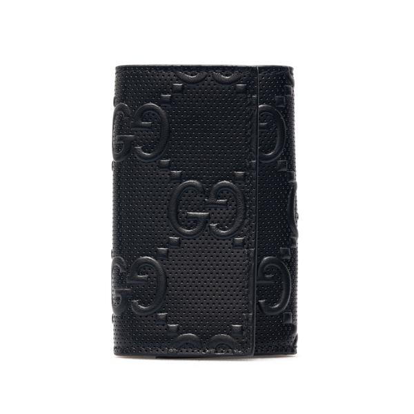 Portachiavi a libro nero con logo                                                                                                                     Gucci 625565 retro