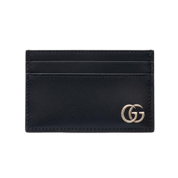 Portacarte nero con logo argentato                                                                                                                    Gucci 657588 retro