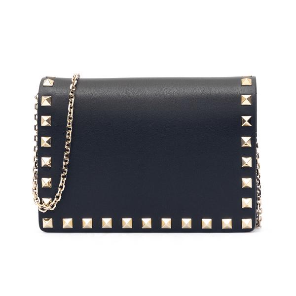 Pouch nera con borchie oro                                                                                                                            Valentino Garavani WW2P0249 retro